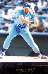 George Brett<br> Signed Plaque