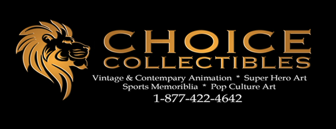 Animation art at Choice Collectibles