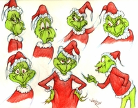 Grinch 7 Image Original Model Drawing - Warner Bros. By Virgil Ross