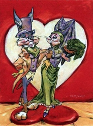 Love is in the Hare canvas