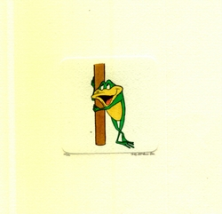 Michigan J. Frog Holding <br>A Pole Small Etching