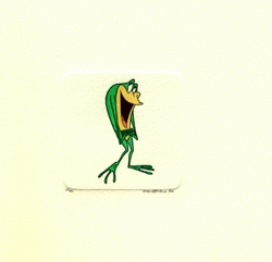 Michigan J. Frog With Fingers<br> Crossed Small Etching