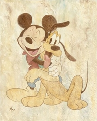 Mickey and Pluto <br> Canvas