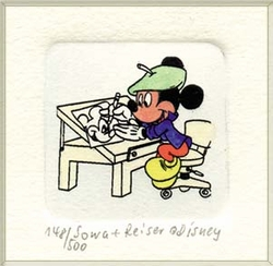 Mickey as Artist <br>Color Etching