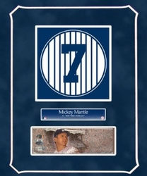 Mickey Mantle Retired Number<br> with Original Painting