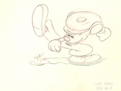 "Mickey Mouse from ""Canine Caddy""(1941) Drawing #32"
