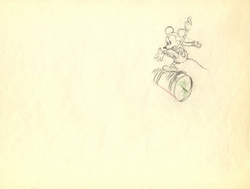 """Mickey Mouse from """"Mickey on Ice""""(1930)  Drawing#8"""