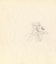 "Mickey Mouse from ""Mickey's Good Deed""(1932) Drawing #43"