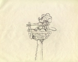 "Mickey Mouse from ""Mickey's Man Friday""(1939) Drawing #14"