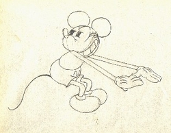 "Mickey Mouse from ""The Cactus Kid""(1930) Drawing#160"