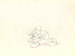 "Mickey Mouse from ""The Whalers""(1938) Drawing#44"