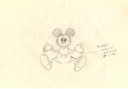 """Mickey Mouse Layout from """"Mickey's Garden""""(1935) Drawing #66<br><font color=red> Please Call"""