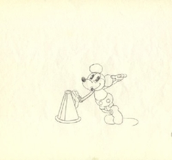 Mickey with Megaphone & Pie Eyes from early 1930's #400