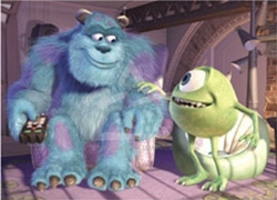 Monsters, Inc.  Litho Mike & Sully