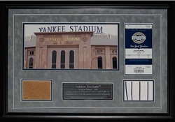New Yankee Stadium Ticket,<br> Uniform and Dirt Collage