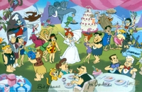 Nuptial Bliss from Flintstones <br>Ltd Ed Cel Signed - Flintstones