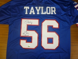 NY Giants Lawrence Taylor <br> Signed Jersey With Inscriptions