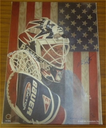 NY Rangers Mike Richter <br> Signed Giclee On Canvas