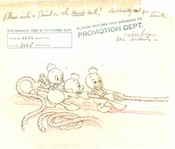 """Original Production Drawing """"Sea Scouts"""" 1939"""