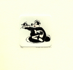 Pepe Hugging Kitty <br>Small Etching