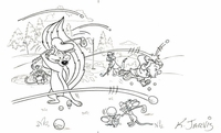 Pepe Le Pew  Elmer Daffy & Sylvester Golfing - Production Drawings