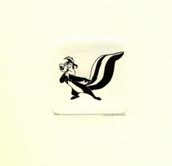 Pepe Le Pew Looking<br> Left Small Etching