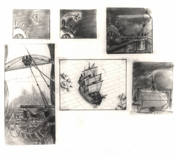 Peter Pan Story Board Litho Set of 6