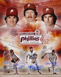 Philadelphia Phillies 1980<br> World Series Signed Collage