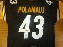 Pittsburgh Steelers Troy<br> Polamalu Signed Jersey