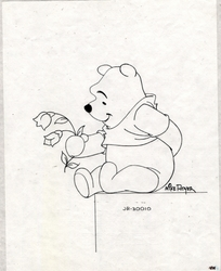 Pooh with Flower OPD