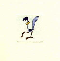 Road Runner Pointing <br>Small Etching
