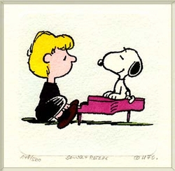 Schroeder & Snoopy<br> Small Etching