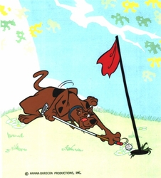 Scooby Doo Playing Golf