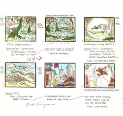 """""""Scooby's All Stars Laff-A-Lmpics"""" Hand Colored Story Board"""