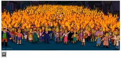 Simpsons Movie Mob with Torches