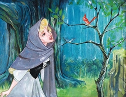 Singing with the Birds <br> Sleeping Beauty Canvas