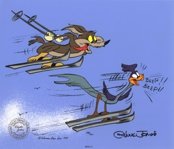 """Skiing"" - Wile E. Coyote and Road Runner"