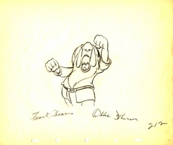 "Sleepy from ""Snow White""(1937)<br> Signed Prod Drawing#212"