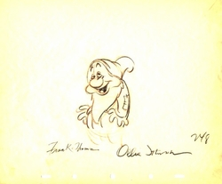 """Sleepy  from """"Snow White""""(1937)<br> Signed Prod Drawing#248"""