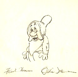 """Sleepy  from """"Snow White""""(1937)<br> Signed Prod Drawing#251"""