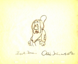 """Sleepy  from """"Snow White""""(1937)<br> Signed Prod Drawing#252"""