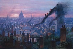 Smoke Staircase from<br> Mary Poppins Canvas