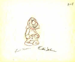 "Sneezy from ""Snow White""(1937)<br> Signed Prod Drawing #248"