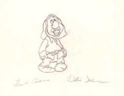 "Sneezy from ""Snow White""(1937)<br> Signed Prod Drawing #249"