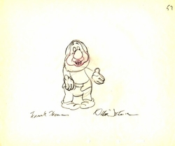 """Sneezy  from """"Snow White""""(1937)<br> Signed Prod Drawing #57"""