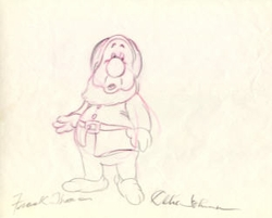 "Sneezy  from ""Snow White""(1937)<br> Signed Prod Drawing#63"