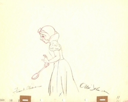 Snow White with spoon Signed #11