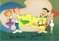 Space Age Meets Stone Age <br>  Ltd Ed Cel Signed - The Jetsons