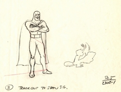Space Ghost and Bleep drawing