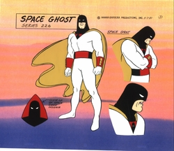Space Ghost Hand Painted<br>Model Sheet Cel 2